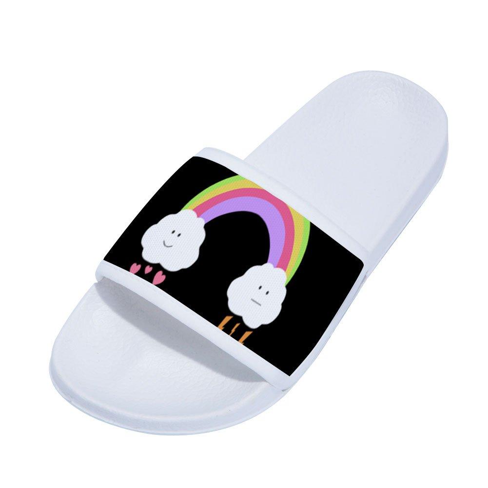 Feisette Girls Boys Slide Sandals Comfortable Soft Sole House Bath Slipper Little Kid//Big Kid