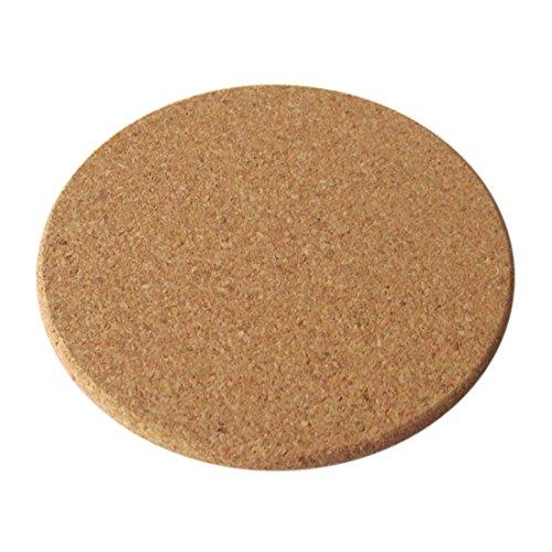 Pinji 12PCS Cork Coaster Absorbent Round Bar Drink Corkboard Placemats Kitchen Hot Pads Pack