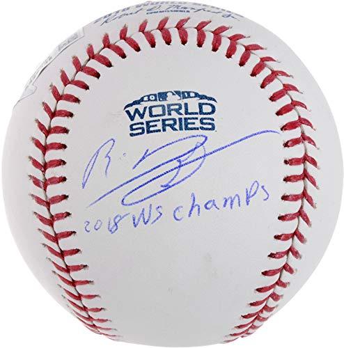 Rafael Devers Boston Red Sox 2018 MLB World Series Champions Autographed Logo Baseball with