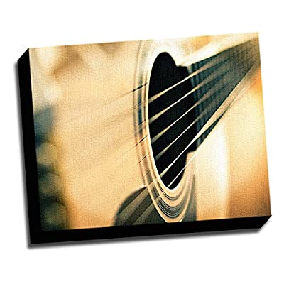 """Music Macro Photo 16""""x20"""" Wall Decoration Music Art Image Printed on Canvas Stretched and Framed Ready to Hang"""