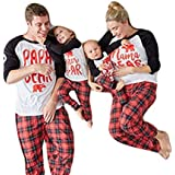 USGreatgorgeous Papa Mama Kids Baby Bear Family Matching Christmas Pajamas Sets for The Family (S(6M Baby), Baby Only)