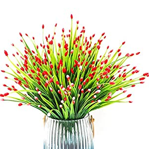 Yunuo 6PCS Mini Fruits Grasses Plants Artificial Flowers for Home Wedding Party Decor (red) 1