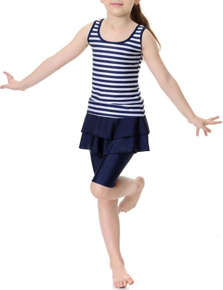 CaptainSwim Kids Sleeveless Swimsuit Muslim Islamic Two Piece Modest Swimwear