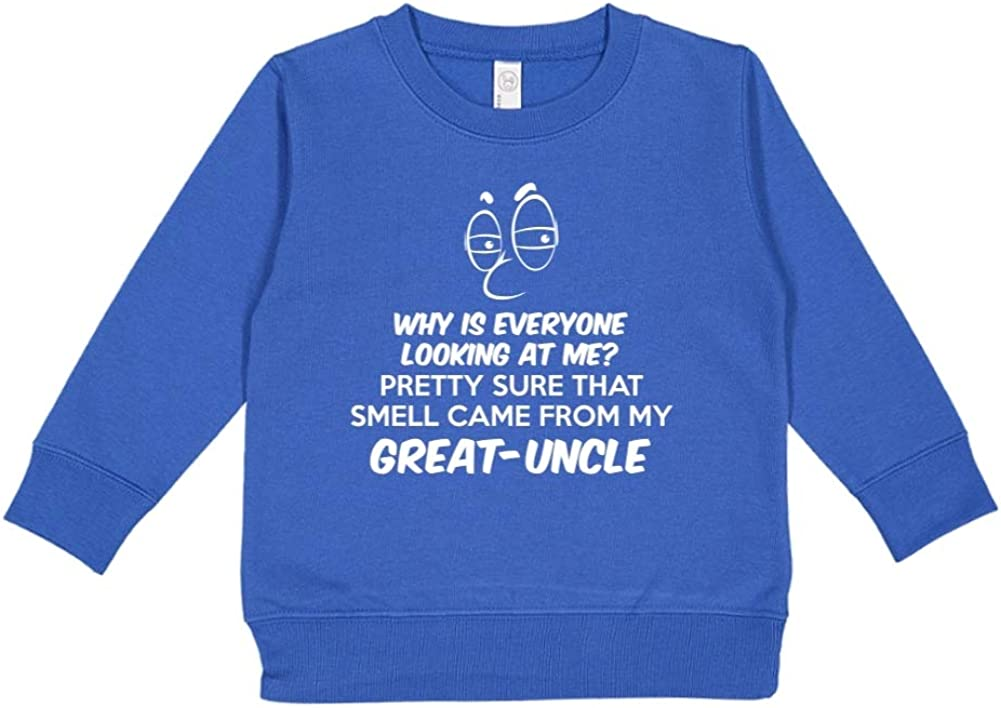 Mashed Clothing Pretty Sure That Smell Came from My Great-Uncle Toddler//Kids Sweatshirt