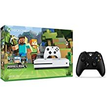 Xbox One S Console Bundle 2 items: Xbox One S 500GB Console-Minecraft Bundle, Extra Xbox Wireless Controller (Black)