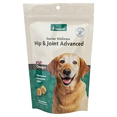 NaturVet Naturals Senior Hip & Joint Soft Chews Advanced Formula for Dogs