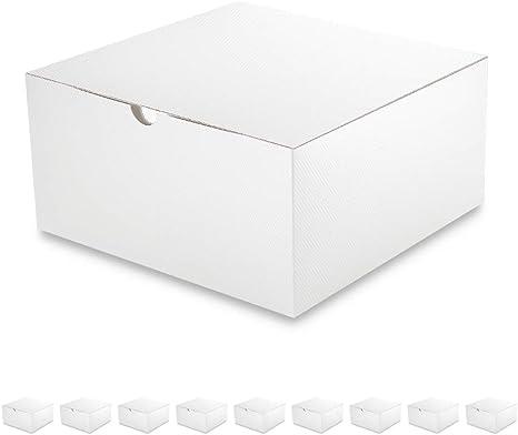 Amazon.com: PACKQUEEN 10 cajas de regalo de 7.9 x 7.9 x 3.9 in, cajas de regalo fáciles de plegar con tapas para regalos, manualidades, cajas de magdalenas, blanco brillante, acabado con textura: Everything Else