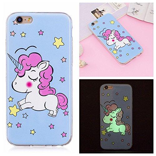 Custodia iPhone 6 Plus / 6S Plus , LH Stella Unicorno Fluorescenza TPU Silicone Cristallo Morbido Case Cover Custodie per Apple iPhone 6 Plus / 6S Plus 5.5