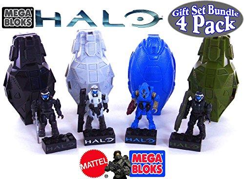 Mega Bloks Halo Drop Pod Metallic Stealth ODST, Arctic ODST,