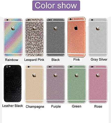 for iPhone 6//6s 4.7, Silver Kasstino Bling Glitter Crystal Full Body Wrap Decal Film Sticker Skin for iPhone 6 6S Plus