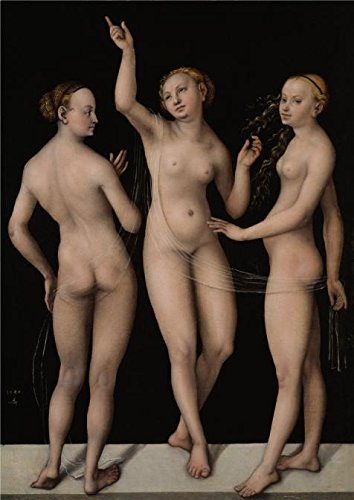 [Oil Painting 'Lucas Cranach The Elder,The Three Graces,1535', 10 x 14 inch / 25 x 36 cm , on High Definition HD canvas prints is for Gifts And Home Theater, Kitchen And Living Room Decoration,] (Lucas Mother 3 Costume)