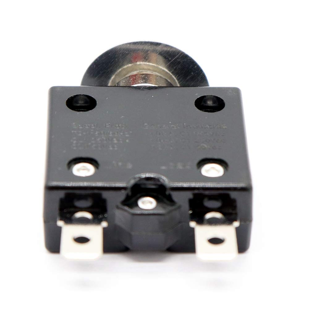 Semoic 1X 20A Circuit Breaker 12V//24V Push Button Resettable Thermal Circuit Breaker Panel Mount With Waterproof Cap