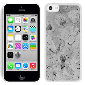 Unique Designed Cover Case For iPhone 5C With Jewel Texture White Bw Pattern Wallpaper (2) Phone Case