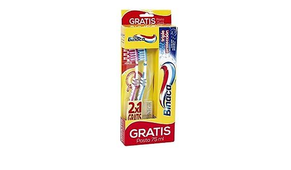 BINACA - 2 Cepillos Dentales Active + Pasta Dentífrica Gratis: Amazon.es: Salud y cuidado personal