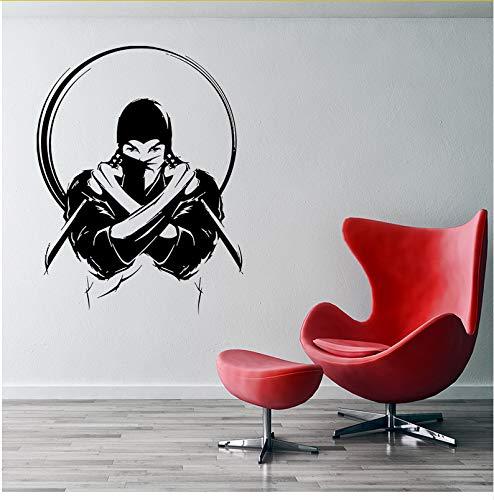 Ljtao Vinilo Decorativo De Pared Ninja Con Cuchillo Espada ...