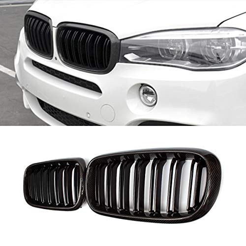 Mosion Auto Real Carbon Fiber Front Hood Grille for BMW 2015-2018 X5M F85 X6M F86 14-18 X5 F15 X6 F16 (2018 Bmw X5 Grill)