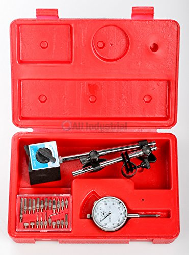Dial Indicator Kit with Magnetic Base & 22 pc.Pointer for setting Table Saw blades, Shaper Cutters and other Woodworking Tooling by All Industrial