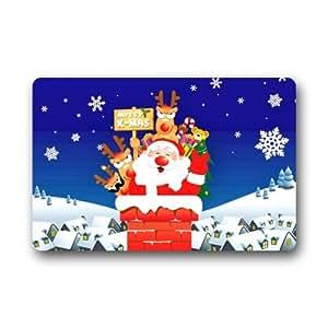"""23.6""""(L) X 15,7(W) Felpudo (artística funda de Señor Kill diseños elegante, decorativo, único, Cool, Fun, Funky para baño–Nochebuena Papá Noel trineo"""