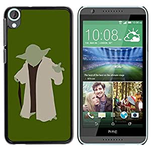 Be Good Phone Accessory // Dura Cáscara cubierta Protectora Caso Carcasa Funda de Protección para HTC Desire 820 // Minimalist Yoda