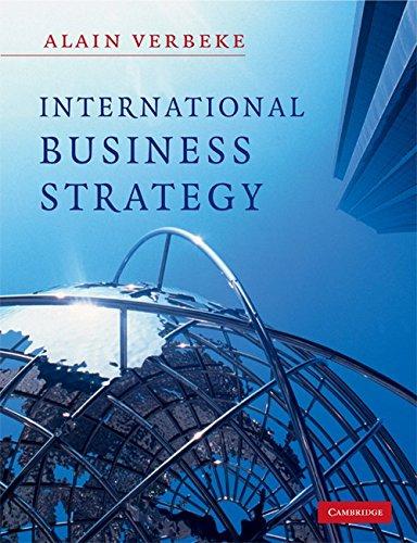Alain verbeke international business strategy cambridge university press 2009