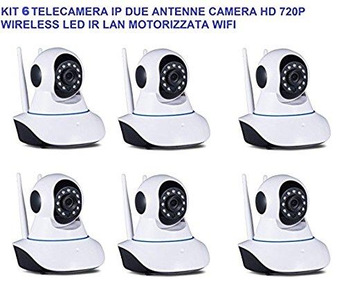 pcstore-online Kit 4 Cámara IP dos antenas Camera HD 720P ...