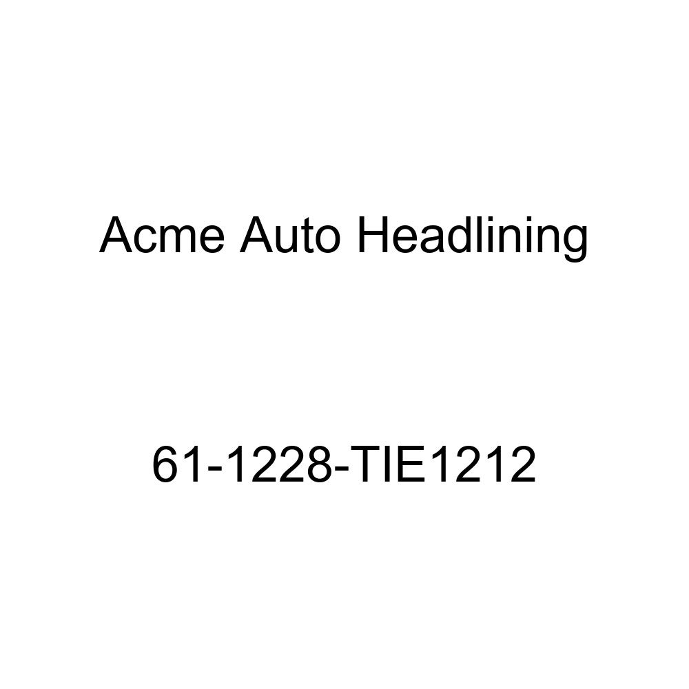 Acme Auto Headlining 61-1228-TIE1212 Dark Blue Replacement Headliner 1961 Oldsmobile F85 4 Door Wagon 7 Bow