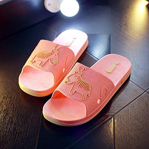 DogHaccd pantofole,Pantofole estate femmina coppie bagno anti-slittamento home home bagno interno pavimento di plastica cool pantofole estate uomini di spessore,Il rosso36-37