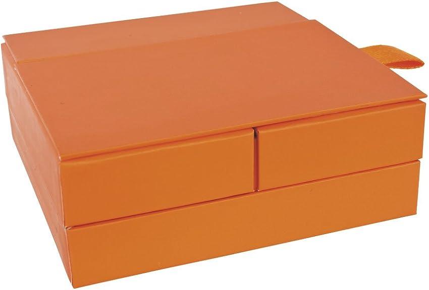 Jouailla-Caja de cartón, cartón, color naranja: Amazon.es: Joyería