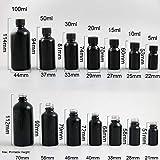 DishyKooker 200 x Shining Black Boston Round Glass Essential Oil Bottle With Brush Cap 10ml 20ml 30ml 50ml 100ml Glass Nail Polish Bottle