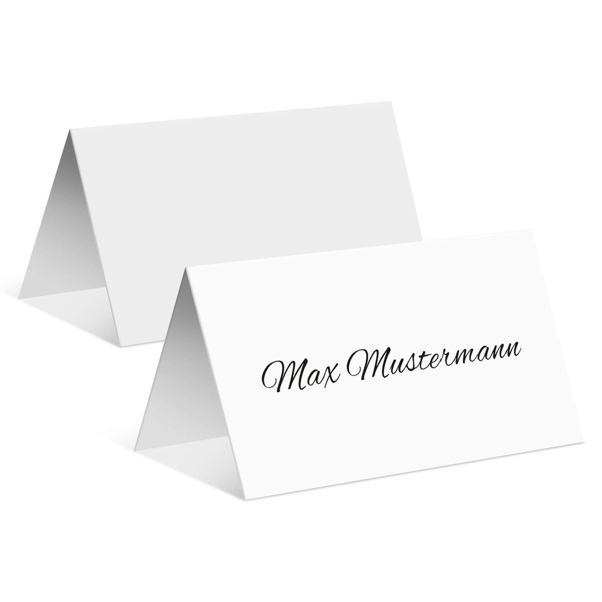 Tischkarten Hochzeit (50 Stück) - Schlicht in Weiß - Platzkarten Namenskarten B01MYZR7A4   Hohe Qualität und geringer Aufwand    Ausgezeichnet    Große Ausverkauf