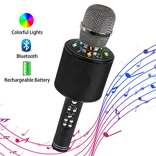Wireless Bluetooth Microphone Karaoke Singing Handheld Smartphone Speaker Mic for Home KTV Outdoor...