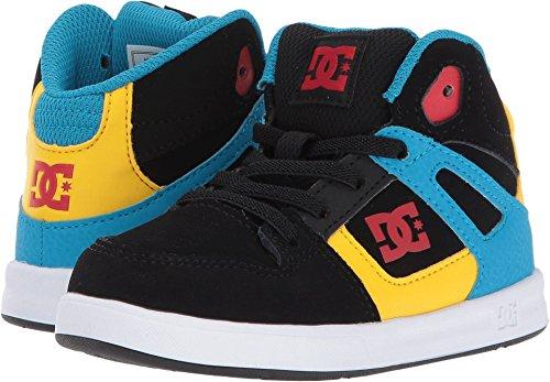 DC Shoes Youth Rebound Skate, Black/Multi/White, 7 M US Toddler