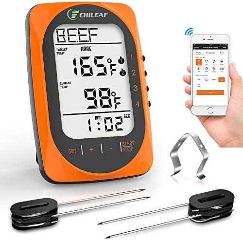 CHILEAF Wireless BBQ Thermometer Grilling