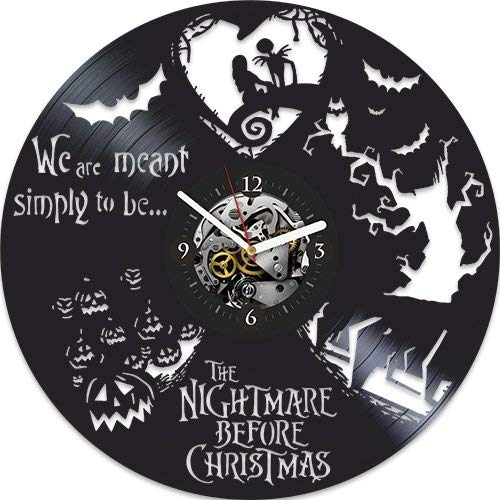 Vinyl Wall Clock, The Nightmare Before Christmas Clock, Xmas Gift For Kids, Disney Gift For Girl, Wall Clock Large, Disney Gift For Girl, Disney Clock Wall Clock Modern, Xmas Gift For Kids (Best Kitchen Nightmares Episodes)