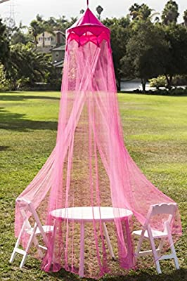 Butterfly Craze ® Girls Hot Pink Princess Play Tent and Bed Canopy