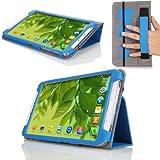 MoKo Samsung Galaxy Tab 3 8.0 Case - Slim Folding Cover Case for Samsung Galaxy Tab 3 8.0 Inch SM-T3100 / SM-T3110 Android Tablet, BLUE (WILL NOT Fit Samsung Galaxy Tab 4 8.0)