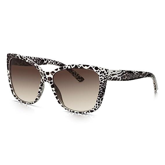 Sunglass Junkie Lunettes de Soleil Glamour Oversized pour Femme Motif Leopard ZW5bZUk2