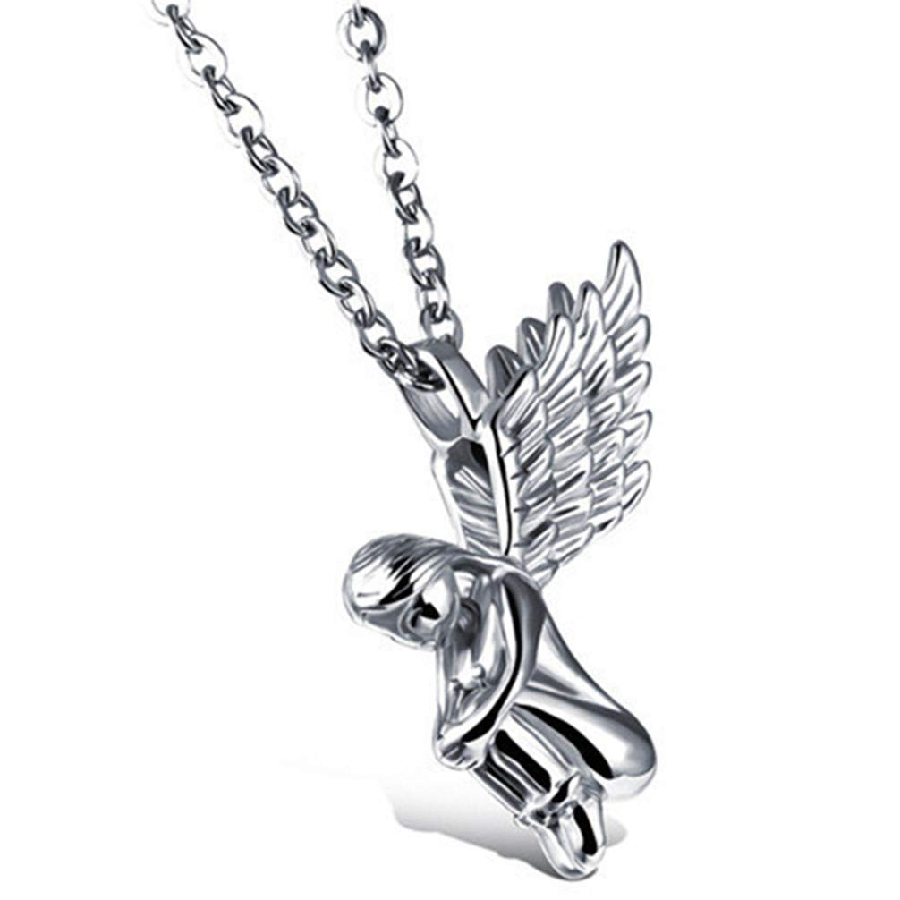 Golden Toporchid Angel Girl Anh/änger Halskette Angel Wings Anh/änger Halskette f/ür Frauen