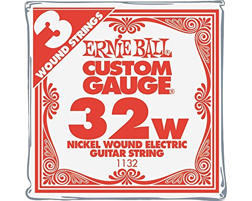 Ernie Ball Nickel Wound Single Guitar Strings 3-Pack .032 Gauge 3-Pack ()