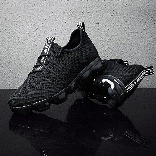 Scarpe Corsa Ginnastica Asfalto Sneakers Respirabile da Montagna Donna da su Scarpe di Sportive Scarpe Nero Uomo happygo E1FgPqn
