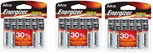 Energizer MAX AA Batteries, Designed to Prevent Damaging Leaks ESJjvO, 3 Pack(16 count)