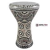 Gawharet El Fan 17'' Mother of Pearl Darbuka ''Black Empire'' Darbuka Drum Percussion