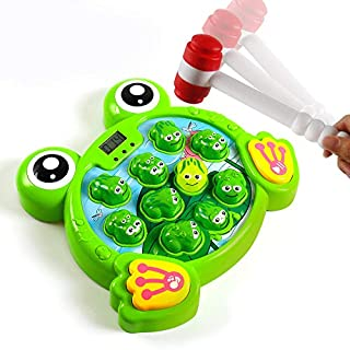 YEEBAY Interactive Whack A Frog Game, Learning, Active, Early Developmental Toy, Fun Gift for Age 3, 4, 5, 6, 7, 8 Years Old Kids, Boys, Girls,2 Hammers Included