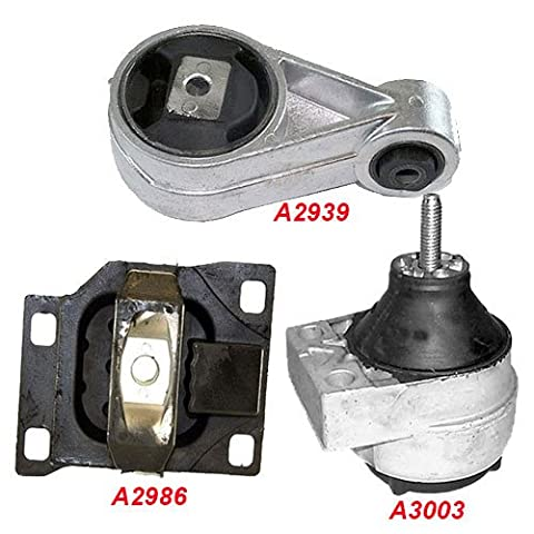 K170-03 : Fits 2000-2004 FORD FOCUS 2.0L DOHC Engine & Trans Mount Set Except SVT Model 3 PCS : 2000 2001 2002 2003 2004 - A3003 A2939 - Ford Focus Engine Mount