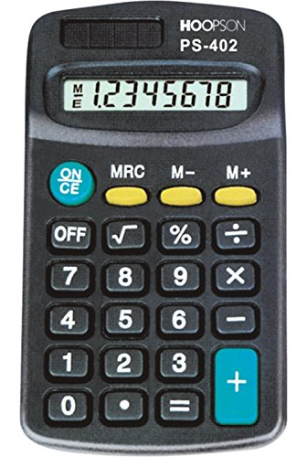 Calculadora de Bolso PS-402 Preta Hoopson