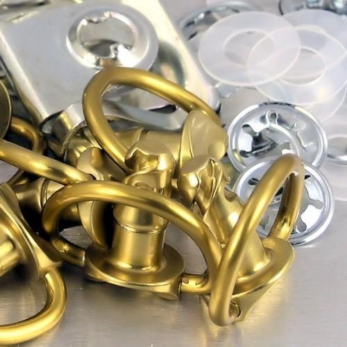 Pro-Bolt Aluminum Quick Release D-Ring W/Slide Clip 14mm 10Pk Gold QRPACKSLIDE14-G (Bolt Release Quick D-ring Pro)