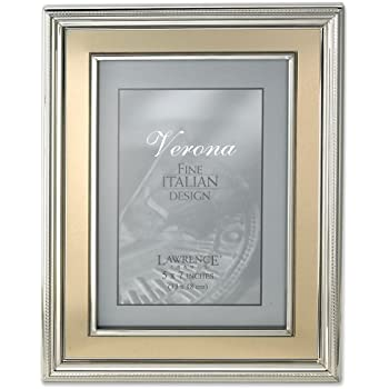 Amazoncom Lawrence Frames 5 By 7 Inch Silver Plated Metal Picture