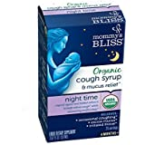 Mommy's Bliss Organic Baby Cough Syrup For Night Time, Herbal Supplement Made From Organic Agave, Wild Cherry, Slippery Elm Bark, & Chamomile, 1.67 fl.oz.