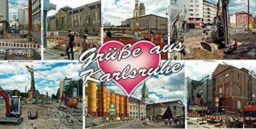 Karlsruhe 2013 Stadtansichten Baustellenpostkarte Amazonde