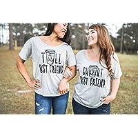 Best Friend Shirts - Best Friend Gift - Best Friends - Meilleur Ami Tshirt - Coffee Shirt - Tall Best Friend - Short Best Friend - BFF Shirt - Best Friend - Gifts for Best Friends - Gray Tshirt